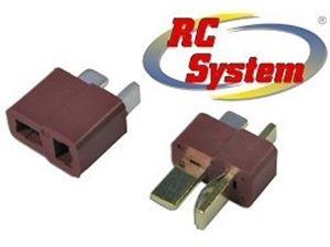 Immagine di RC System - Connettore T PLUG maschio + femmina
