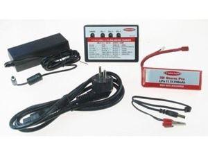 Immagine di kit Carica batterie 12V -220V- e batterie lipo 2100  (3 celle)