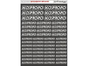 Immagine di RCALLSTICKERS - KO PROPO BRAND DECAL SHEET WHITE