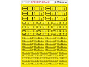 Immagine di RCALLSTICKERS -  ORION BRAND DECAL SHEET FLU YELLOW