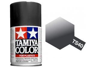 Immagine di Tamiya - Smalto spray TS-40 Metallic Black 100 ml